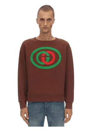 Printed Cotton Interlock Sweatshirt