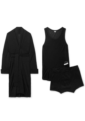 Secondskin - Noon Chill Travel Pyjama And Candle Set - Black
