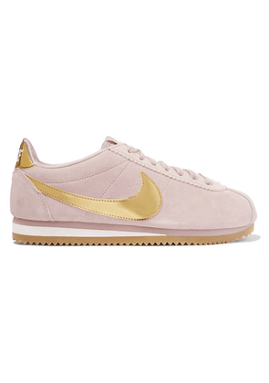 Nike - Cortez Se Suede And Metallic Patent-leather Sneakers - Blush