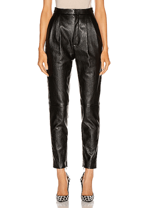 Saint Laurent Leather Pant in Black - Black. Size 34 (also in 38,40,42).