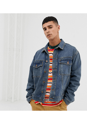COLLUSION denim jacket in washed blue
