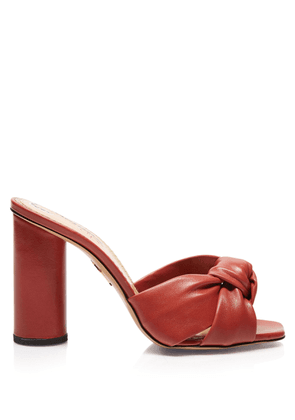 Charlotte Olympia Mules Women - LEILA TERRACOTTA Smooth Nappa 35