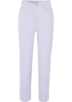 L.F.Markey - Johnny High-rise Tapered Jeans - Lilac
