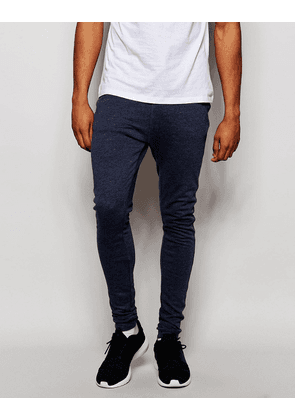 ASOS Extreme Super Skinny Joggers In Blue Marl
