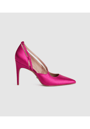 Reiss Geniveve Satin - Satin Court Shoes in Hot Pink, Womens, Size 3