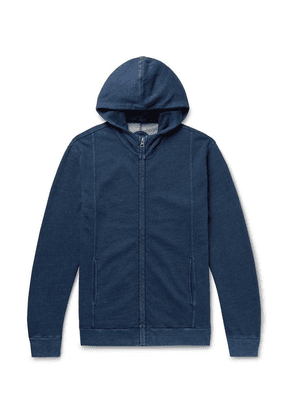Blue Blue Japan - Indigo-dyed Loopback Cotton-jersey Zip-up Hoodie - Blue