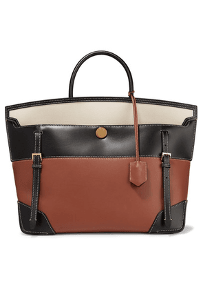 Burberry - Buckle-embellished Canvas And Leather Tote - Brown