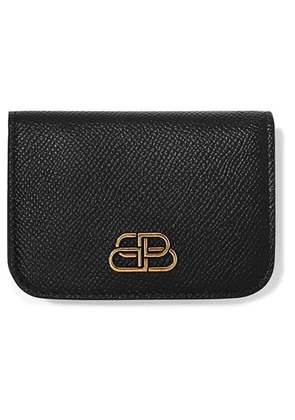 Balenciaga - Bb Mini Textured-leather Wallet - Black