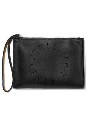 Stella McCartney - Perforated Faux Leather Pouch - Black