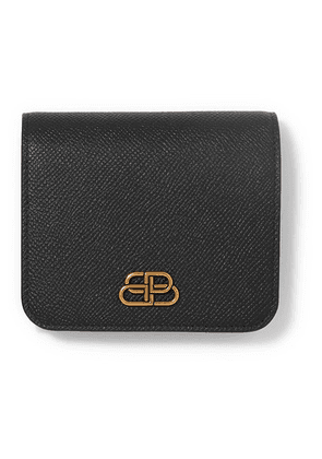 Balenciaga - Bb Compact Textured-leather Wallet - Black