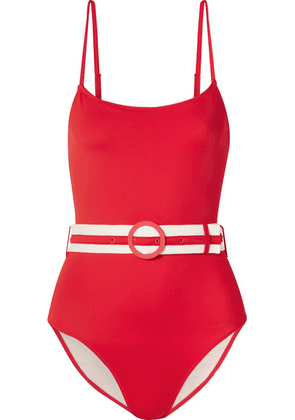 Solid & Striped - The Nina Belted Swimsuit - Red