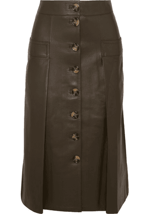 Dodo Bar Or - Galina Leather Midi Skirt - Burgundy