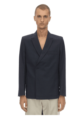 Mid Double Breasted Virgin Wool Blazer
