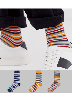 ASOS DESIGN 3 pack ankle sock with stripe save