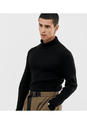 COLLUSION skinny fit ribbed roll neck jumper