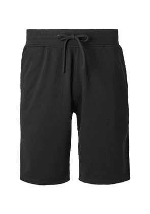 Reigning Champ - Loopback Pima Cotton-terry Drawstring Shorts - Black