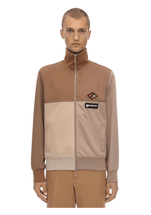 Zip-up Cotton Blend Track Jacket