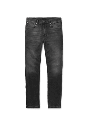 Nudie Jeans - Lean Dean Slim-fit Organic Stretch-denim Jeans - Dark gray