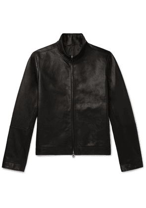 The Row - Cole Slim-fit Leather Bomber Jacket - Black