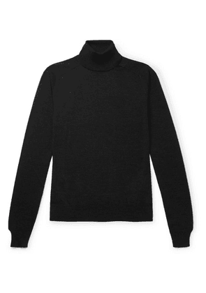 The Row - Ronald Slim-fit Wool Rollneck Sweater - Black