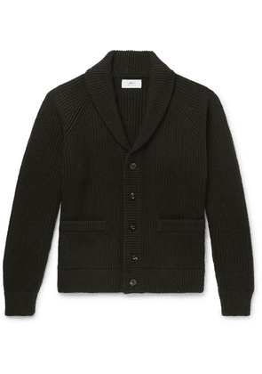 Mr P. - Oversized Shawl-collar Ribbed Wool And Cashmere-blend Cardigan - Green