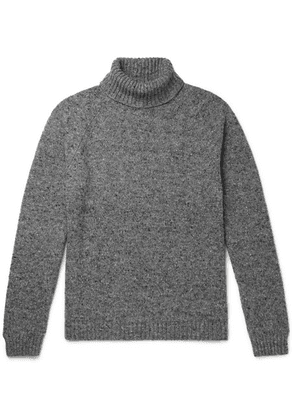 The Row - Asher Mélange Camel Hair-blend Rollneck Sweater - Gray