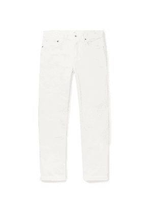 Mr P. - Slim-fit Selvedge Denim Jeans - White