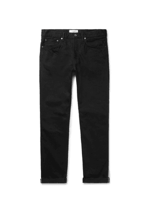 Mr P. - Slim-fit Selvedge Denim Jeans - Black