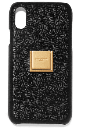 SAINT LAURENT - Embellished Textured-leather Iphone Xr Case - Black