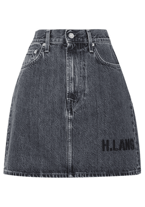 Helmut Lang - Femme Embroidered Denim Mini Skirt - Dark denim