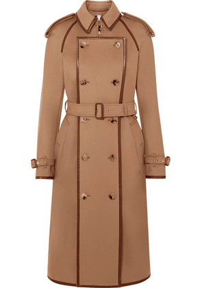 Burberry - Convertible Leather-trimmed Wool And Cashmere-blend Trench Coat - Beige