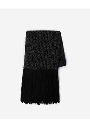 The Kooples - long crochet-style scarf with lurex - black