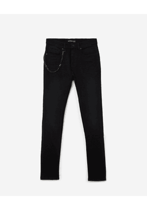 The Kooples - black skinny jeans with chain - black