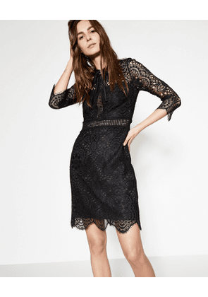 The Kooples - black embroidered lace dress - bla
