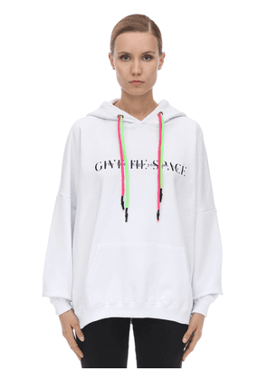Statement Cotton Sweatshirt Hoodie