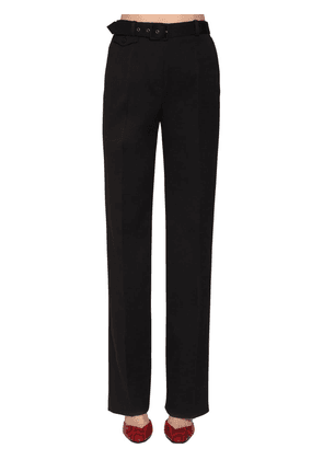 Straight Leg Wool Drill Pants