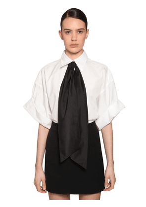 Short Sleeves Cotton Poplin Shirt