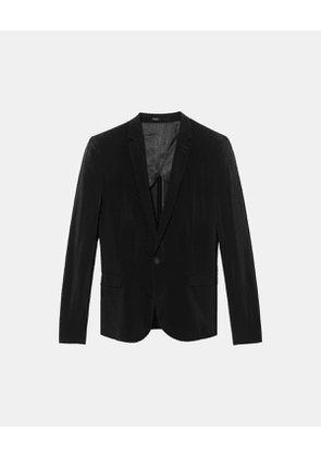 The Kooples - fluid jacket in cupro - bla