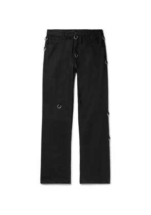 Raf Simons - Embellished Denim Jeans - Black