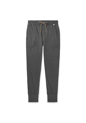 Paul Smith - Slim-fit Tapered Mélange Cotton-jersey Sweatpants - Gray