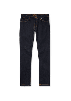 Nudie Jeans - Skinny Lin Organic Stretch-denim Jeans - Dark denim