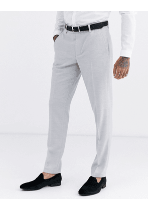 ASOS DESIGN wedding skinny suit trousers in ice grey micro texture