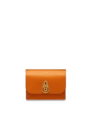 Mulberry Amberley Medium Wallet in Autumn Gold Small Classic Grain