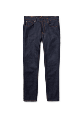 Nudie Jeans - Lean Dean Slim-fit Dry Organic Denim Jeans - Dark denim