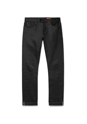 Jean Shop - Jim Slim-fit Selvedge Stretch-denim Jeans - Black