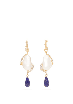 Givenchy - Faux Pearl And Crystal Drop Earrings - Womens - Pearl