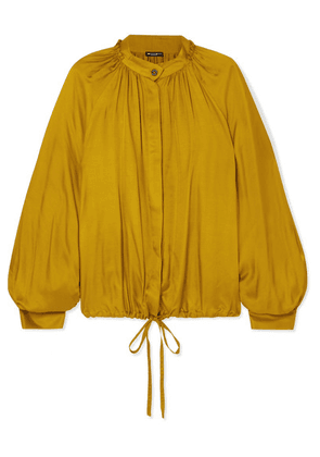Ann Demeulemeester - Nanette Gathered Satin Blouse - Gold