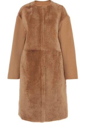 Yves Salomon - Wool And Cashmere-blend And Shearling Coat - Camel