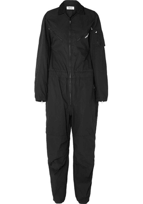AMBUSH® - Convertible Embroidered Cotton-canvas Jumpsuit - Black