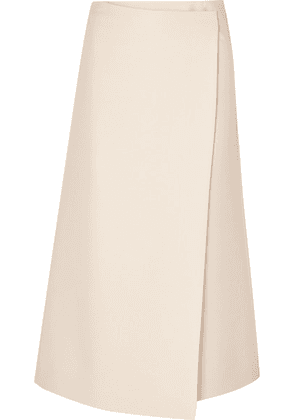 The Row - Saio Wool And Silk-blend Wrap Skirt - Ivory